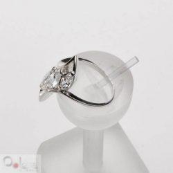 Pierścionek srebro cyrkonie PK 369