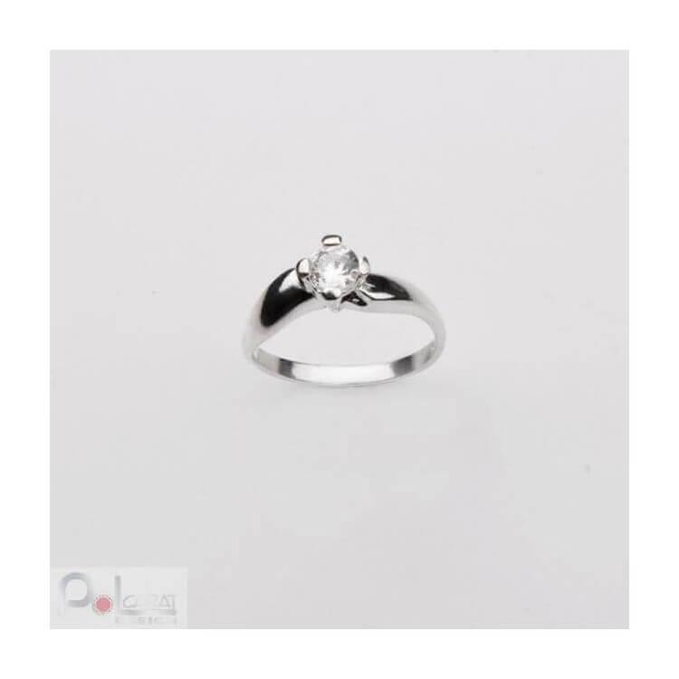 Srebrny pierścionek z cyrkonią PK 363