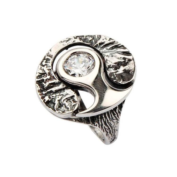 Pierścionek srebrny z cyrkoniami PK 1622