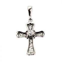 Srebrny krzyżyk zdobiony cyrkonią W 1160