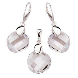 Komplet srebrny z kryształami Swarovskiego KPL 963