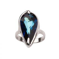 Srebrny pierścionek z kryształami Swarovskiego P 973