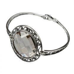 Srebrna bransoletka z kryształem Swarovskiego R 980