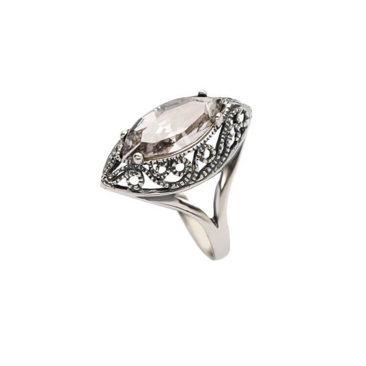 Srebrny pierścionek z kryształami Swarovskiego PK 991