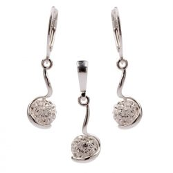 Komplet srebrny z kryształami Swarovski KPL 1109