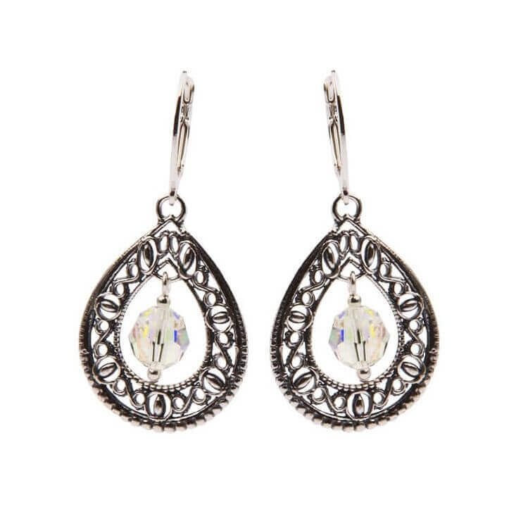 Kolczyki srebrne z kryształami Swarovskiego K 1122 Crystal AB