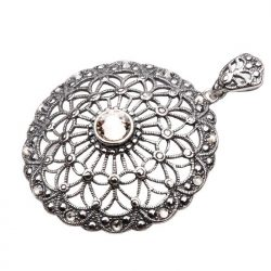 Wisiorek srebro Swarovski W 1505 Silver Shade Crystal