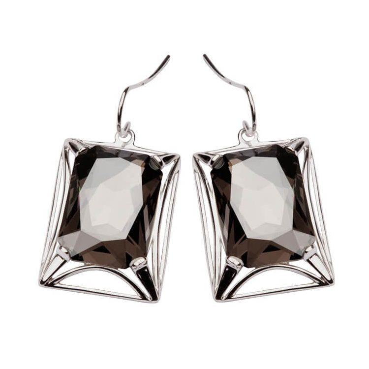 Srebrne kolczyki Swarovski K 1520 Satin Crystal