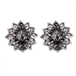 Klipsy srebrne z kryształami Swarovskiego 1611 Klipsy Silver Shade