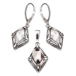 Bransoletka srebrna z kryształami Swarovskiego L 972