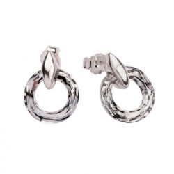 Srebrne kolczyki z kryształem Swarovskiego K2 1502