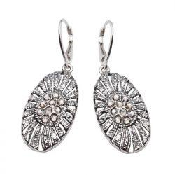 Srebrne kolczyki z kryształami Swarovskiego K 1503