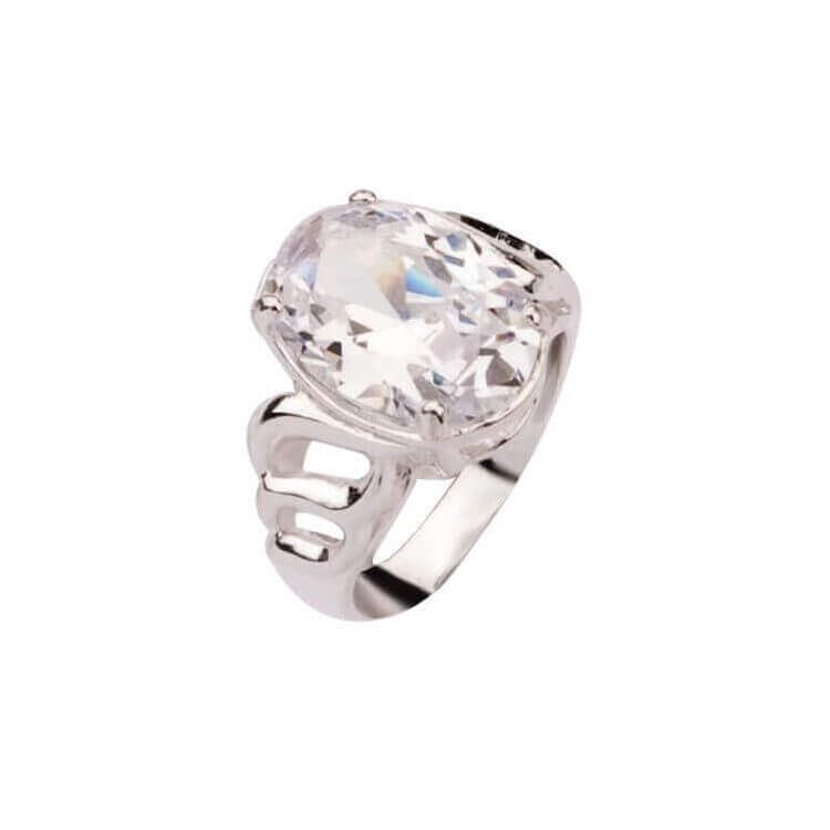 Srebrny pierścionek z cyrkonią PK 904