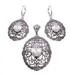 Kolczyki srebrne z cyrkoniami K 996