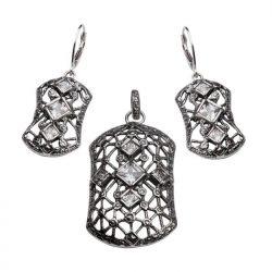 Kolczyki srebro cyrkonia K 1511