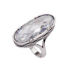 Srebrny pierścionek z cyrkonią PK 1535