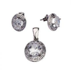 Kolczyki srebro cyrkonie K 1585