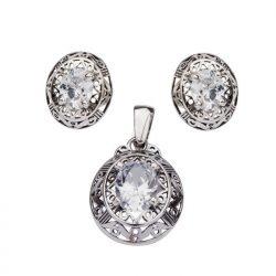 Kolczyki srebrne z cyrkoniami K3 1569