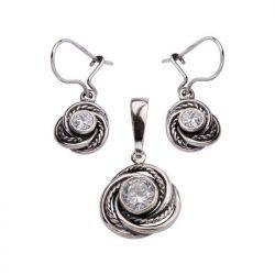 Komplet srebrny z cyrkoniami KPL 1612