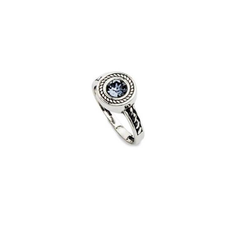 Srebrny pierścionek z kryształami Swarovskiego PK 1799