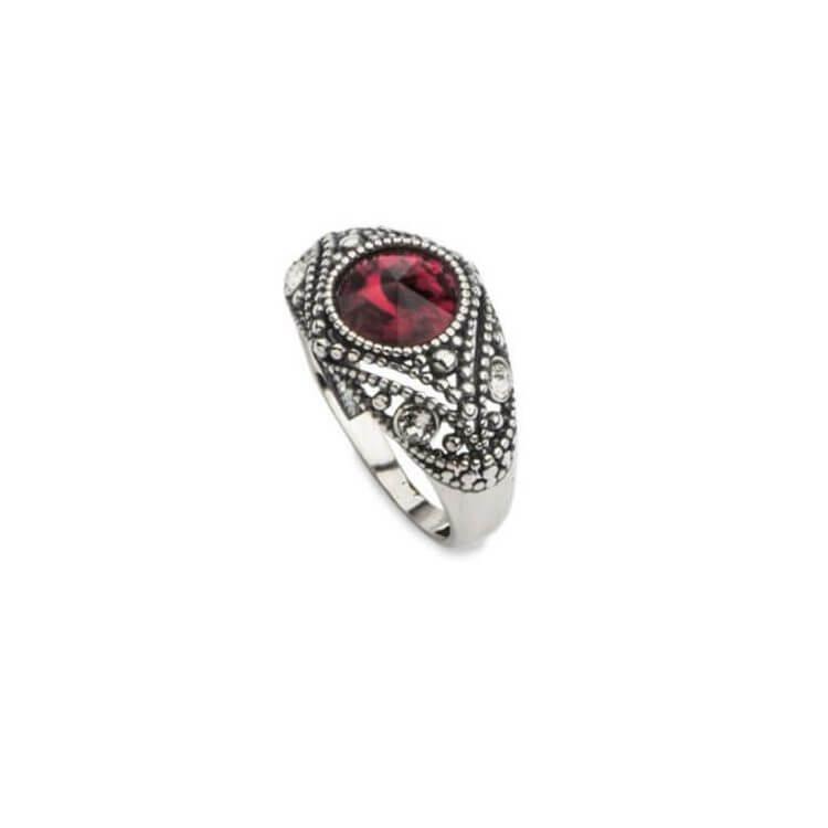 Srebrny pierścionek z kryształami Swarovskiego PK 1828