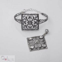Bransoletka srebrna z cyrkoniami R 1507