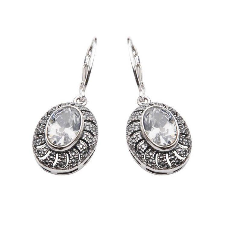 Kolczyki srebrne z cyrkonią K 998 Biały