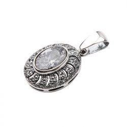 Wisiorek srebro cyrkonie W 998 Biały