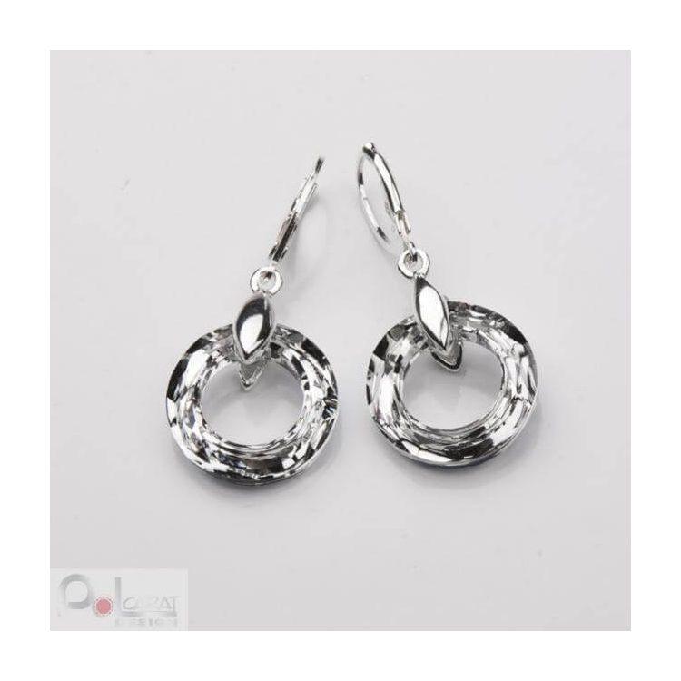 Kolczyki srebrne Kryształy Swarovskiego K 1502 (duże)