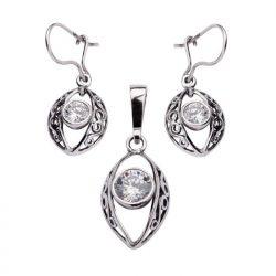 Komplet srebrny z cyrkoniami KPL 1588