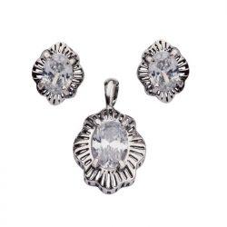 Komplet srebrny z cyrkoniami KPL 1573