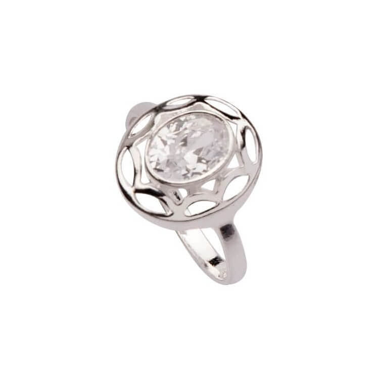 Srebrny pierścionek z cyrkonią PK 1594
