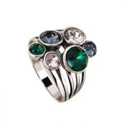 Srebrny pierścionek z kryształami Swarovski PK 1963