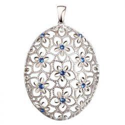 Srebrny wisiorek z kryształami Swarovski W 2021