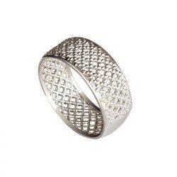 Srebrny rodowany pierścionek OBRĄCZKA P 169