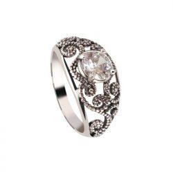 Srebrny pierścionek z cyrkonią PK 2068