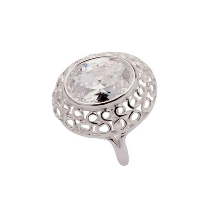 Srebro pierścionek z cyrkonią PK 1519