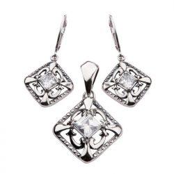 Kolczyki srebro cyrkonia K 1536