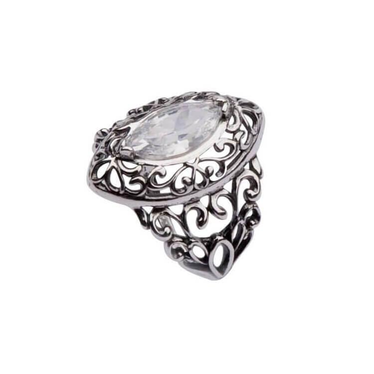 Srebrny pierścionek z cyrkonią PK 1576