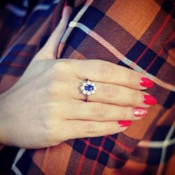 Srebrny pierścionek zdobiony cyrkoniami PK 1627