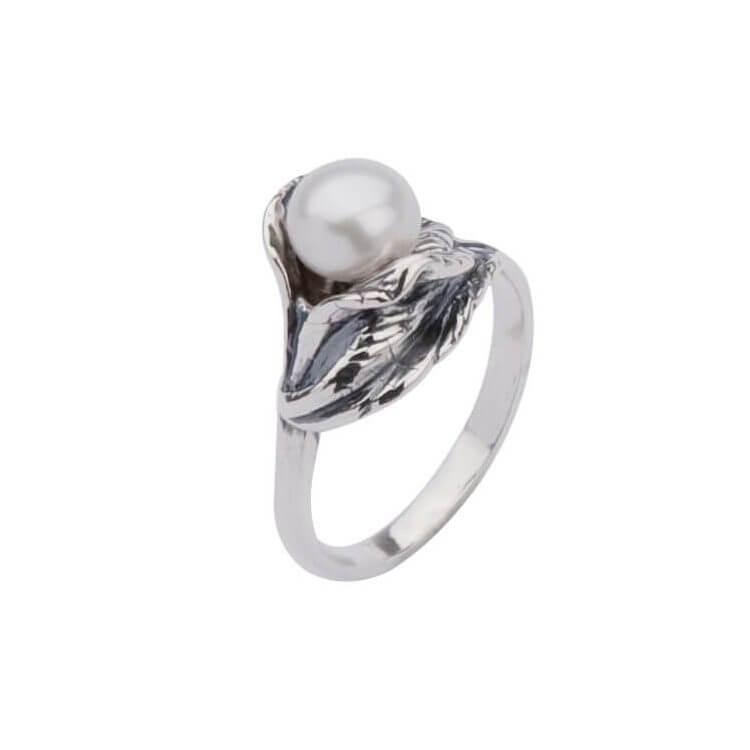 Srebro pierścionek z perłą PK 1557