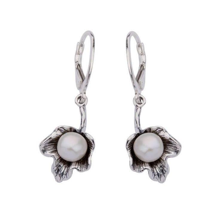 Kolczyki srebro perełka K 1557