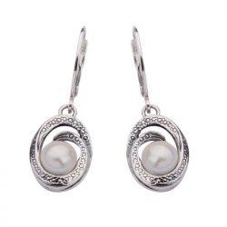 Kolczyki srebro perła K 1561