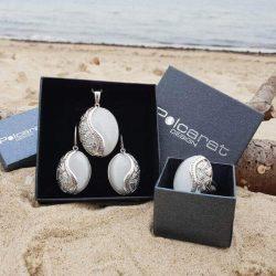 Kolczyki z malachitem oksydowane srebro K3 1716 malachit