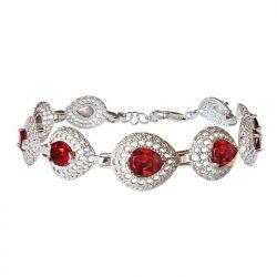 Srebrna bransoletka z kryształami Swarovski L 2025