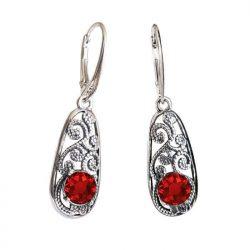 Srebrne kolczyki z kryształami Swarovski K 2068