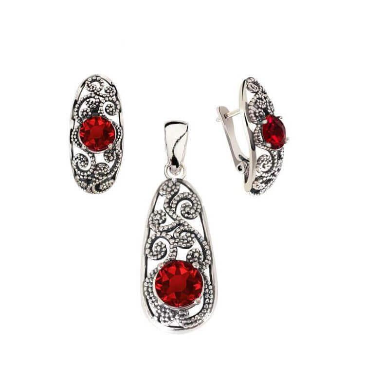 Srebrne kolczyki z kryształami Swarovski K3 2068