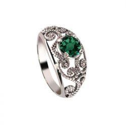 Srebrny pierścionek z kryształami Swarovski PK 2068