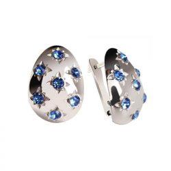 Srebrne kolczyki z kryształami Swarovski K3 1928