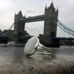 Bransoletka srebrna R 1733 kocie oko